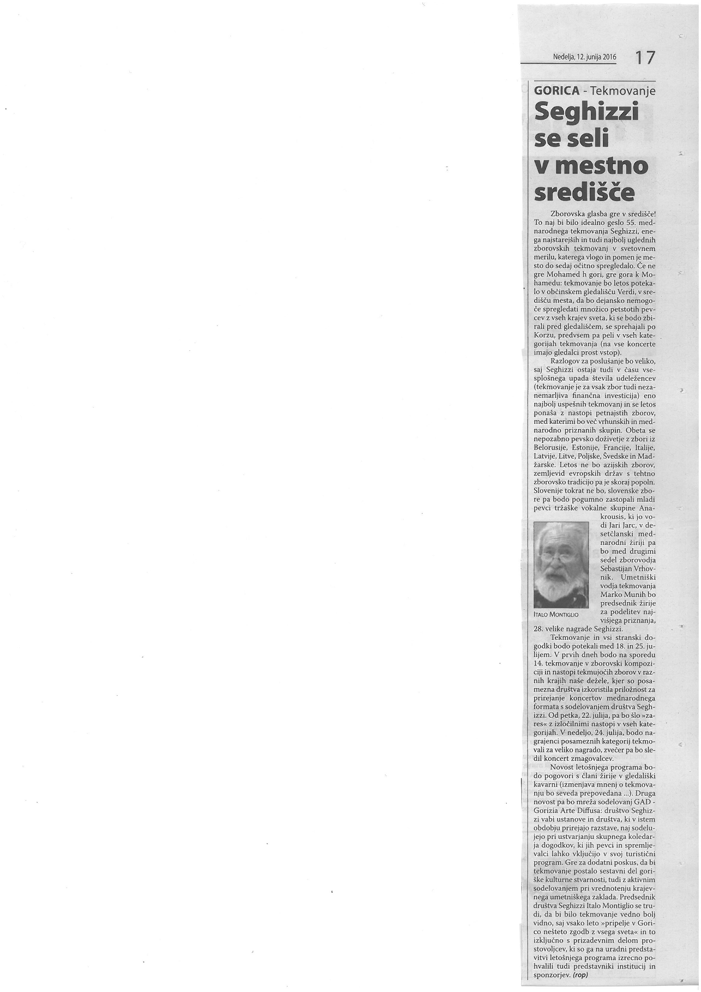 2016.06.12 Primorski Dnevnik
