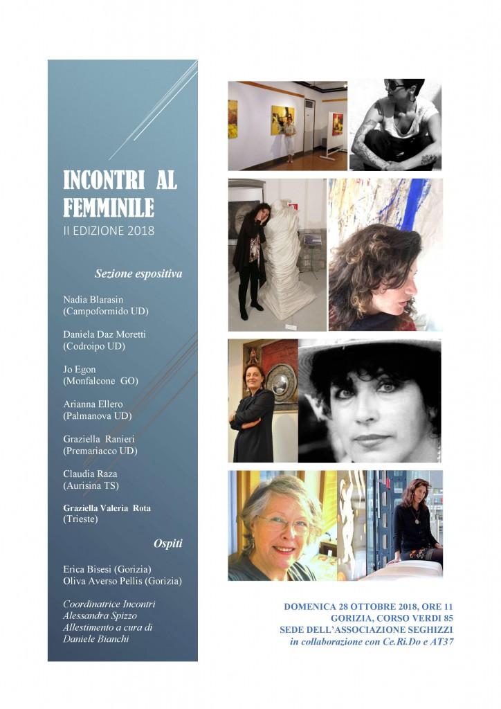 locandina INCONTRI AL FEMMINILE 2018