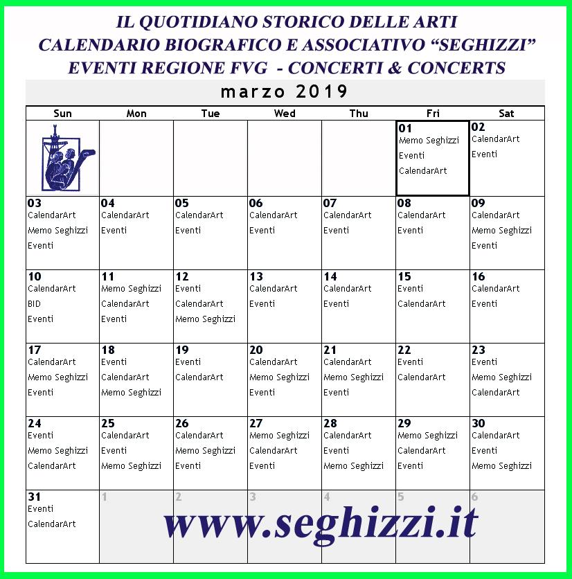 Calendario unificato marzo